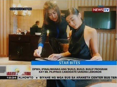 BT: DPWH, ipinaliwanag ang 'Build,Build,Build' program kay Bb. Pilipinas candidate Sandra Lemonon