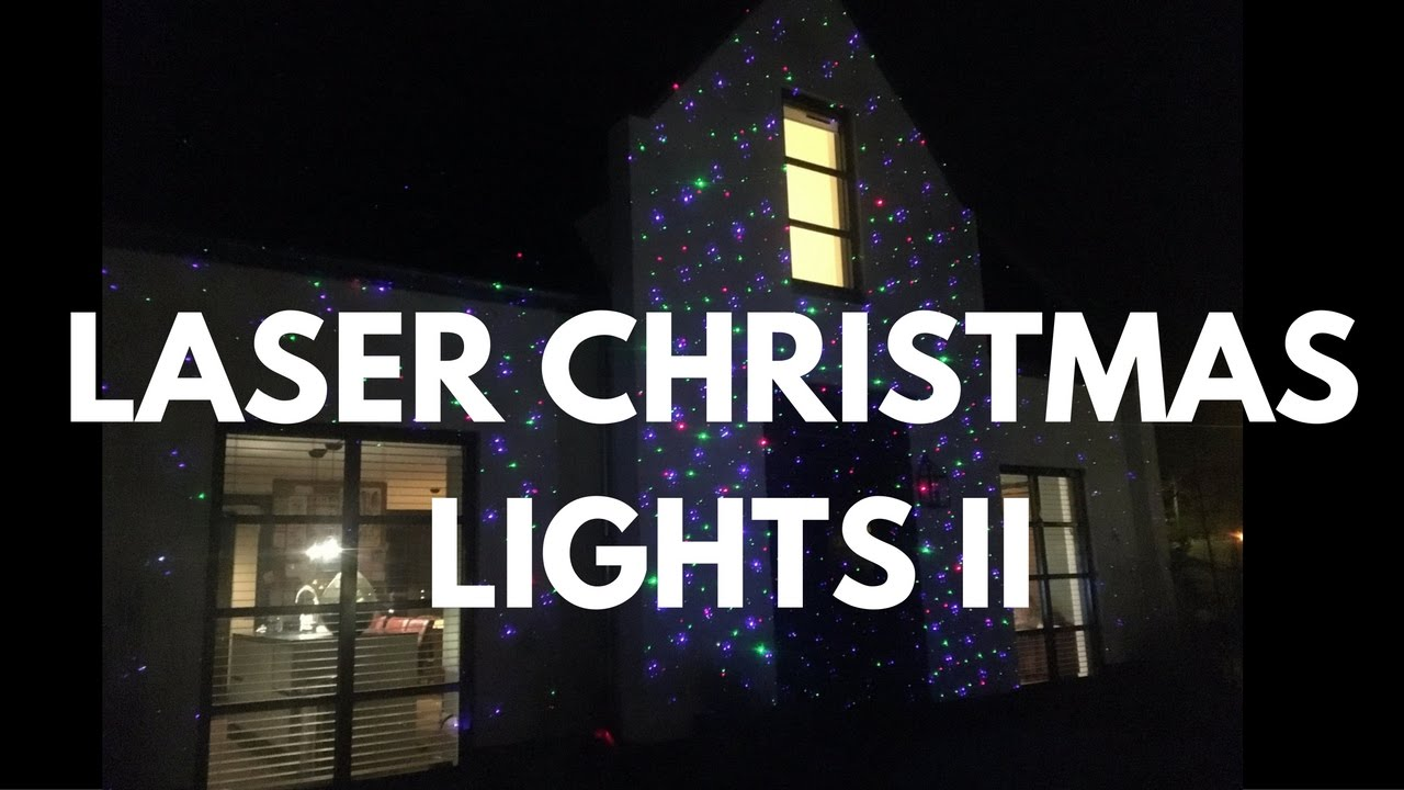 Laser Christmas Lights | Projected On A House