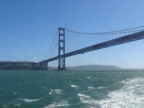 San Francisco Bay Cruise, USA - Alcatraz Island and Golden Gate Bridge