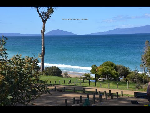 Mayfield Beach Camping Video - Campsite Tasmania Map Videos