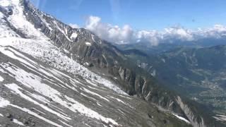 Kolejka na Aiguille du Midi czerwiec 2012, cz. 1 - Cable car to Aiguille du Midi, June 2012, pt. 1
