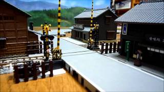 Nゲージ自動踏切遮断機とバスコレ走行システム(サウンド付) thumbnail