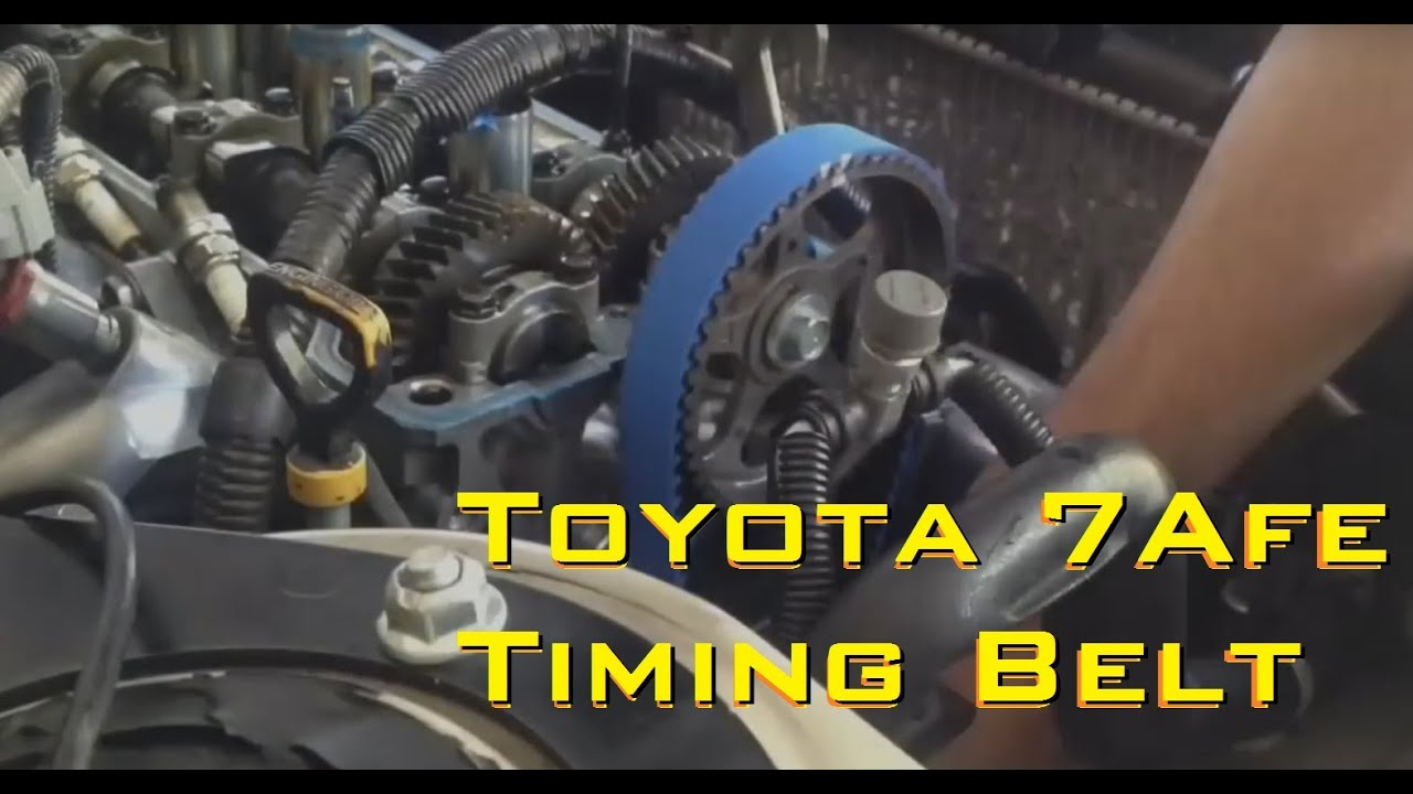 changing the timing belt on my 1996 corolla 7afe