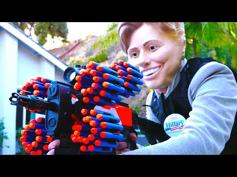Nerf War: Donald Trump VS Hillary Clinton