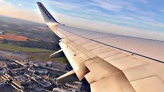 Ryanair Boeing 737-800 GORGEOUS EVENING TAKEOFF from Dublin Airport | ✈