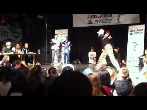 Spunkey and Luke Brown Preselection at Juste Debout Steez Poland 2012