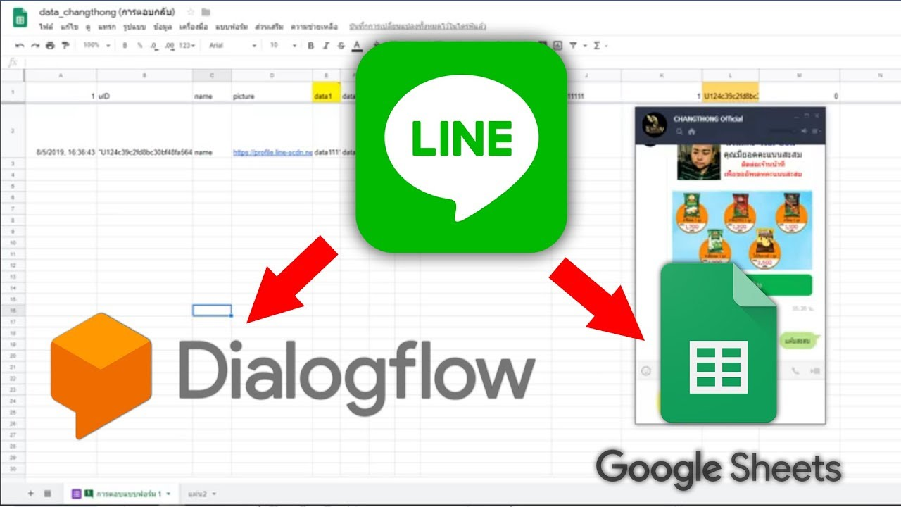 Line BOT Databases with Google sheet เก็บข้อมูลผู้ใช้ Line ด้วย Google sheet