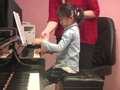Piano lessons for the beginners. Technical Exercises