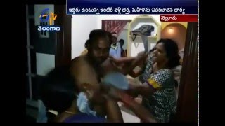 Husband Badly Beaten Up By Wife For An Illegal Affair At Nellore