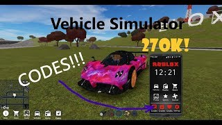 2019 Codes For Vehicle Simulator! [November]