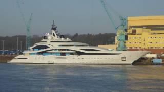 Superyacht JUPITER - LÜRSSEN shipyard Bremen Germany 2016