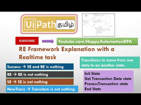 UiPath RE Framework Explained In Tamil