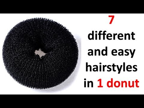 7 easy and pretty hairstyle with 1 donut | ladies hair style | wedding hairstyles | prom hairstyle thumbnail