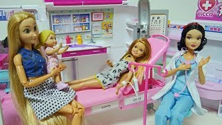 Barbie Ambulance Toy & Hospital Fanny Smile Story
