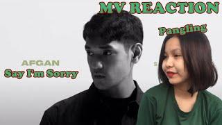 Afgan - say i'm sorry (Official MV) REACTION