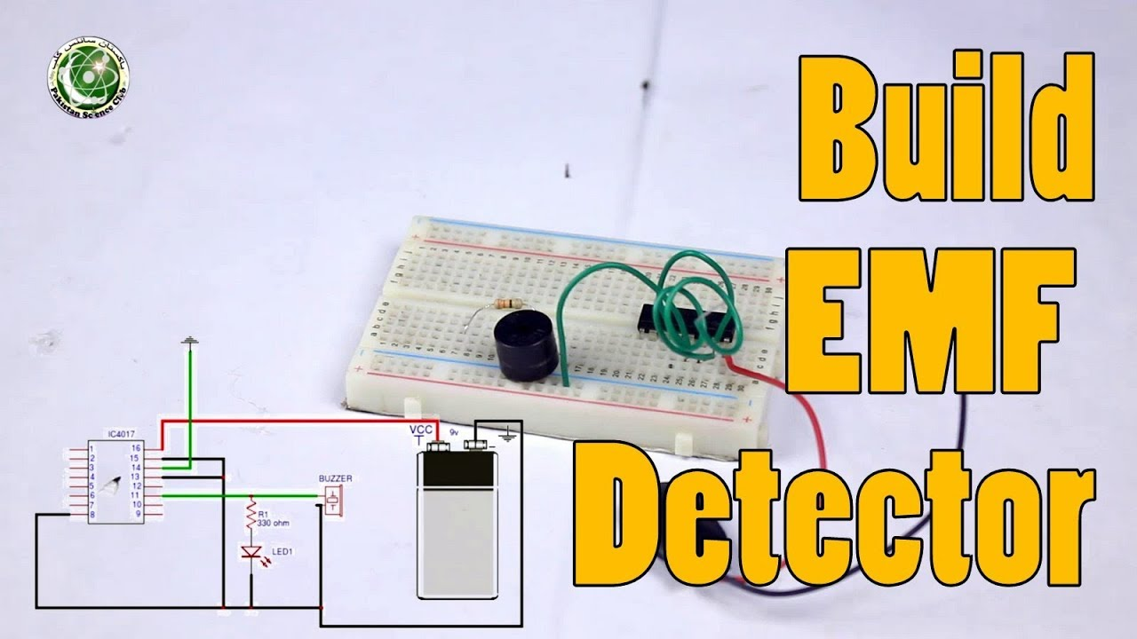 How To Build Emf Detector With Very Easy Circuit Youtube Fotos Coil Gun Diagram Emfdetector Electronicsprojects