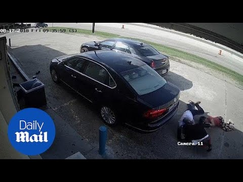 Moment thieves try to snatch $75,000 from Texas woman - Daily Mail