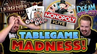 MOST INSANE Table Game Stream EVER - Monopoly Live, Blackjack, Roulette and more!