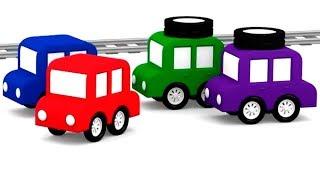 Lehrreicher Zeichentrickfilm - Die 4 kleinen Autos reparieren die Straße