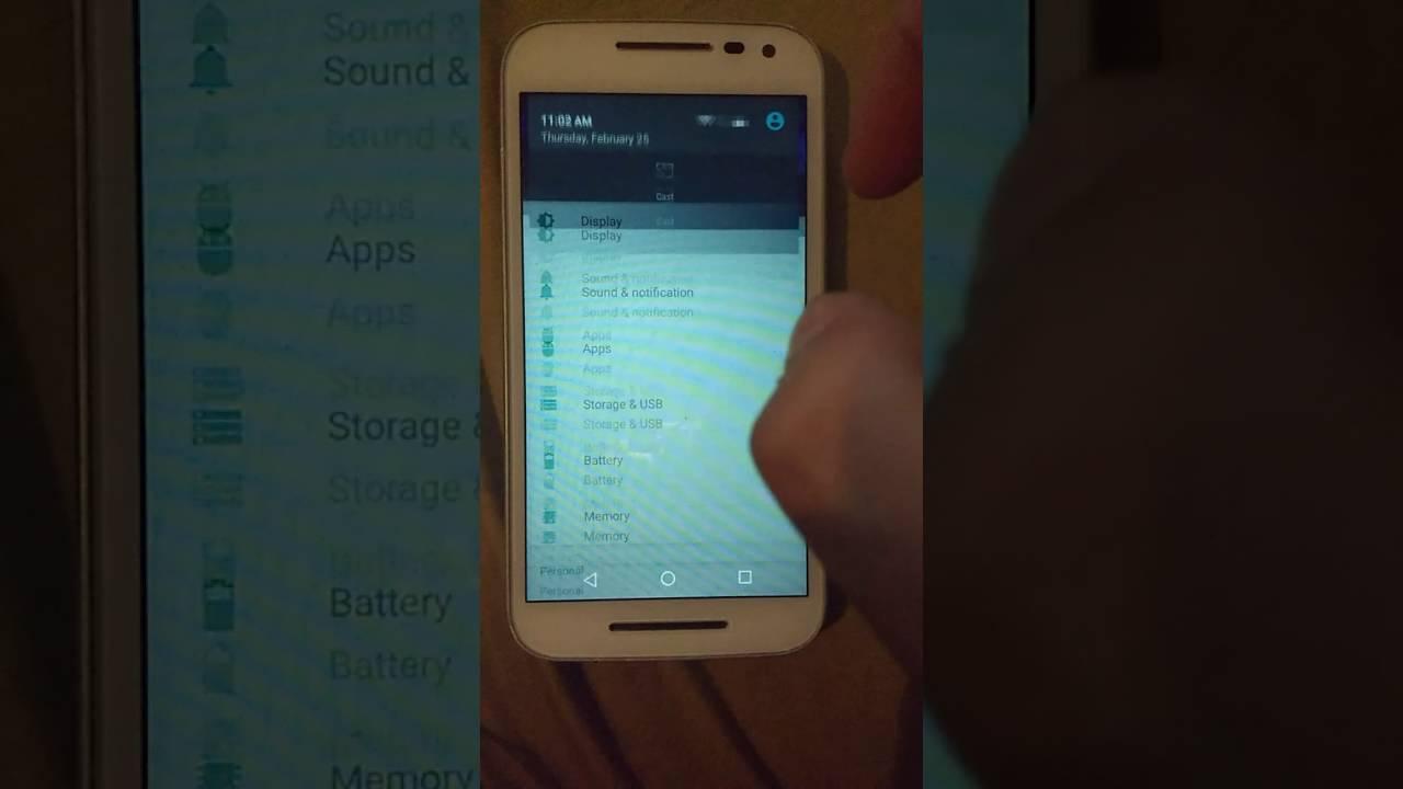 Remove update notification on Motorola Devices