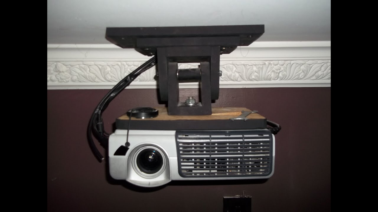 projector ceiling mount (d I Y) - YouTube