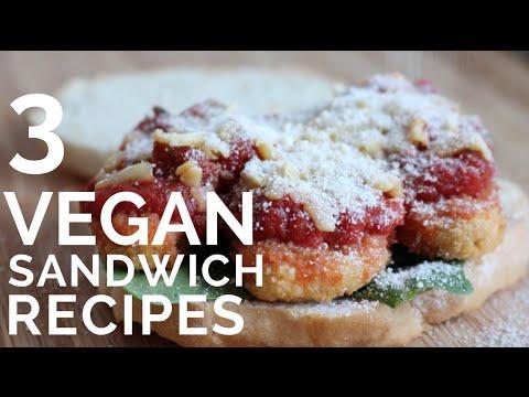 3 Epic Vegan Sandwiches | BBQ Veggie, Chickun Parm, Curry Tofu
