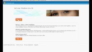 How to Sign Up For Windows Live Hotmail