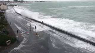 Rough Seas in Guernsey, Admiral Park
