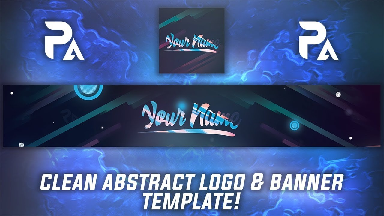 free abstract youtube logo  u0026 banner template   tutorial