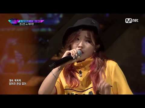 Jeon Soyeon impeccable breath control (Unpretty Rapstar 3 Elimination Battle ep 3 vs. Ha Joo Yeon)