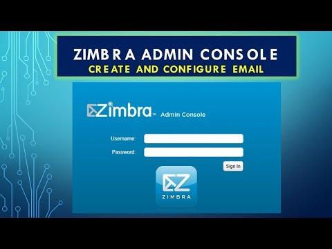 Zimbra Admin Console