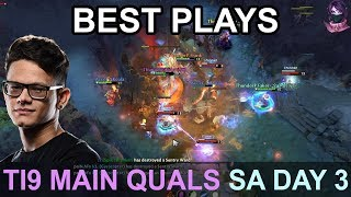 TI9 BEST PLAYS Main Quals SA DAY 3 Highlights Dota 2 by Time 2 Dota #dota2 #ti9
