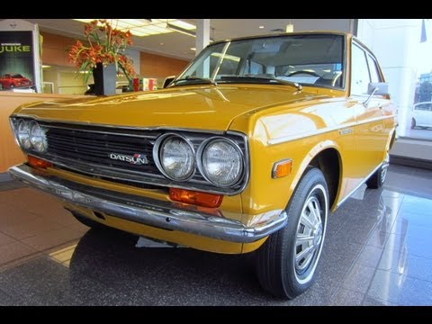 Datsun 510 In Nissan Showroom
