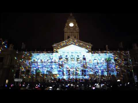 Video Mapping on Cape Town City Hall - Festive Lights 2017
