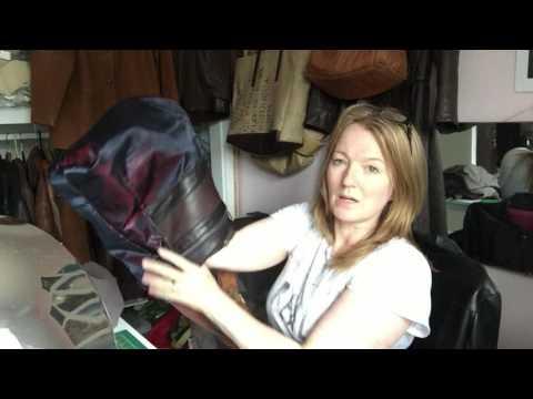 Nicole Farhi Skirt to Prada Inspired Bucket Hobo Handbag