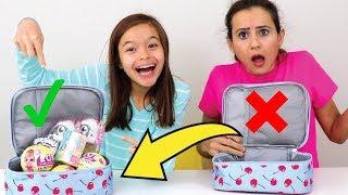 DESAFIO DA TROCA DE LANCHEIRAS COM BRINQUEDOS SURPRESA!!! (Lunchbox switch up challenge!!) thumbnail