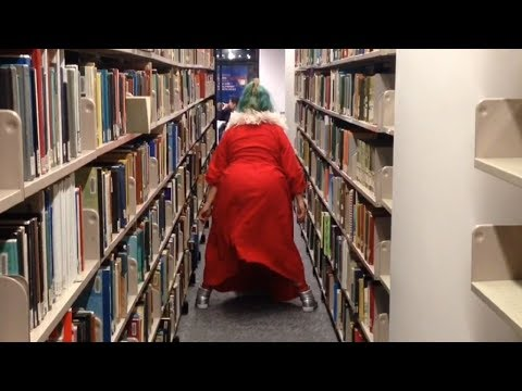 Getting chased out of a library by security