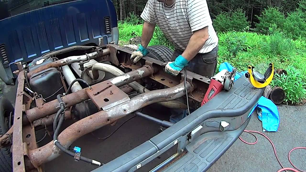 Silverado, Sierra Truck Frame restoration, Rust War - YouTube
