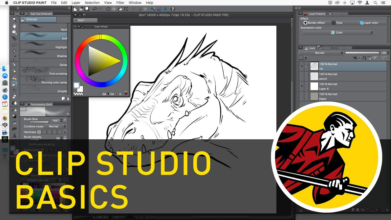 Clip Studio Paint Basics (2018) - YouTube