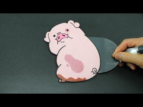 Pancake Art - Waddles (Gravity Falls | Disney XD) by Tiger Tomato