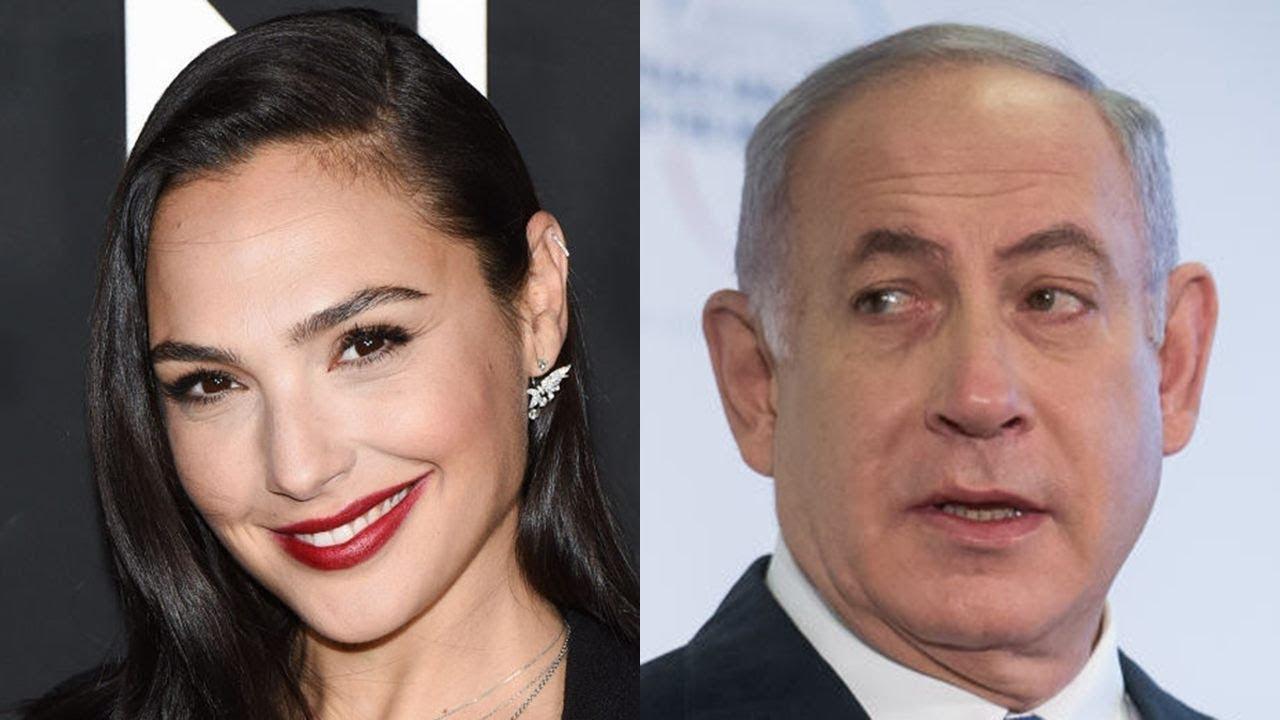 Gal Gadot dan Benjamin Netanyahu (gambar dari: https://www.youtube.com/watch?v=Xhw2qjiHYBk)