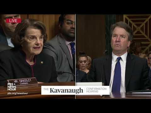 Kavanaugh to Feinstein: 'I wanted a hearing the next day'