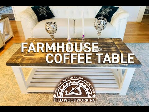 How to build a Farmhouse Coffee Table. Easy Step by Step Instruction DIY