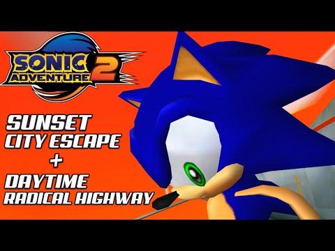 Sonic Adventure 2: Sunset City Escape + Daytime Radical Highway |