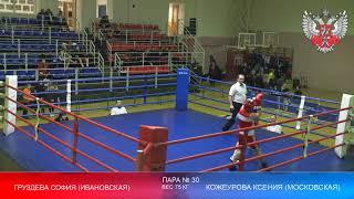 Чемпионат и первенство ЦФО России по боксу среди женщин юниорок и девушек Конаково День 3