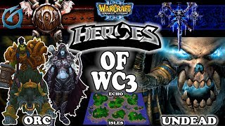 Grubby | Warcraft 3 TFT | 1.30 | ORC v UD on Echo Isles - Heroes of WC3!