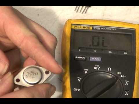 Measureing Voltage Regulators (VR) and Horizontal Output Transistors (H.O. T.)