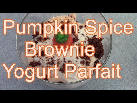 Pumpkin Spice Brownie Yogurt Parfait