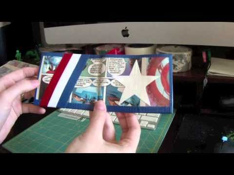 Captain America Duct Tape Comic Wallet