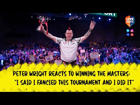 """Peter Wright reacts to """"lucky"""" win at the 2020 Ladbrokes Masters"""